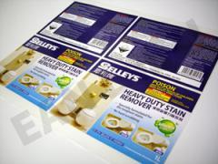 Toiletries Label