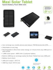 Hybrid Solar Charger with 4000mAh Battery