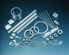 Non-magnetic dies, sealed rings, nozzles, corrosion-resistant dies, plastic and glass forming dies