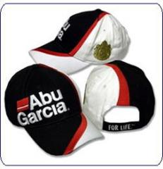 Abu Garcia White/Black Fishing Cap With
