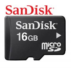 Real Sandisk 16GB Micro SD Class 4