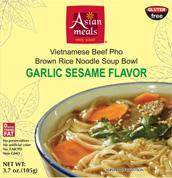 Garlic Sesame Flavor Vietnamese Beef Phô Noodle Bowls