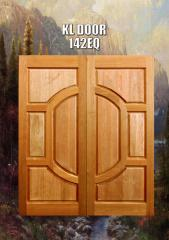 Solid Decorative Double Leaf Door N142 Eq