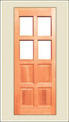 Solid Decorative Door with Glass Panel Mg 2