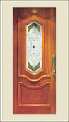 Solid Decorative Door with Panel & Glass