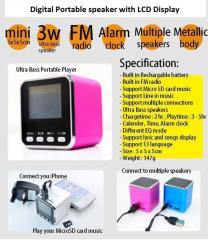 Digital Portable speaker with LCD