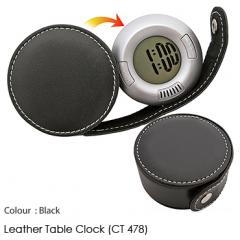 Leather Table Clock (CT 478)