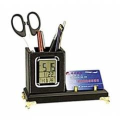 Digital Calendar Clock With Pen/Name Card Holder