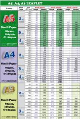 Leaflet - A5, A4, A3