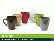 Ceramic Mug - Round Square