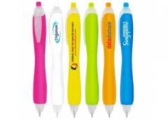 Bubble - Push Action Ball Plastic Pen