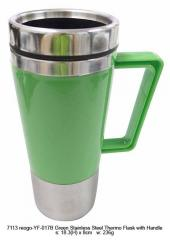 Green Thermo Flask with Handle