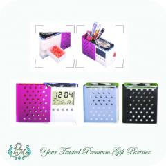 Trendy Multifunctional Pen Holder with Calendar