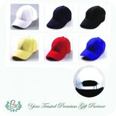 100% Cotton Base Ball 6 Panel Brush Cotton Cap
