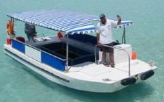 6.2 m 40HP Aluminium Glass Bottom Boat