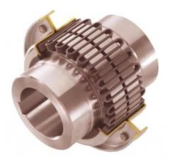 Flexible grid coupling with a rated torque of