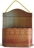 Letter holder & key hanger nyatoh rosewood  songket