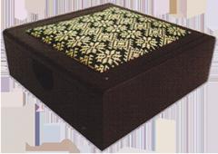 Memo pad box rosewood songket