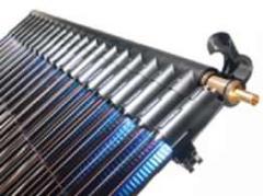 Direct flow vacuum tube solar collector