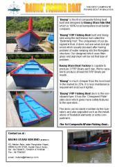 Baung FRP Fishing Boat