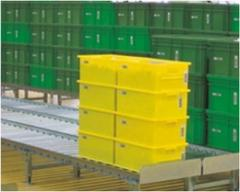 Stacking transport containers For individual