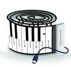 88 Keys Roll up Silicone Piano