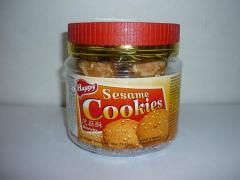 Cookie Biscuits Happy Sesame Cookies