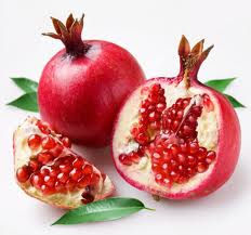 Exotic fruits pomegranate fresh