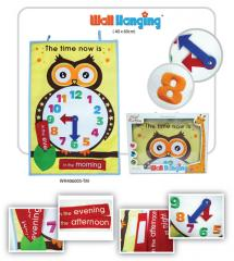 Children toys wall hanging time