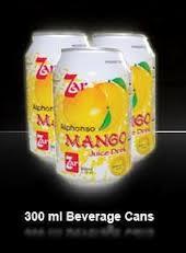 Fresh juices Beverage Cans Manggo