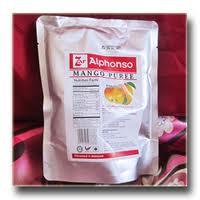 Fresh juices Alphonso Manggo Puree