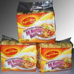 Noodles of instant cooking Mi Kuning Kering (Instant Yellow Dry Noodle)
