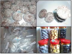 Chocolate Biscuit Biskut Almond Snow