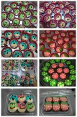 Cap cakes Apam 3D