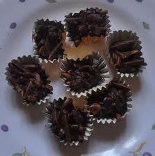 Chocolate cookies Almond Rocher