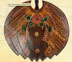 Handy craft and folk art items Batik Wood Banana