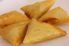 Biscuit with filling samosa