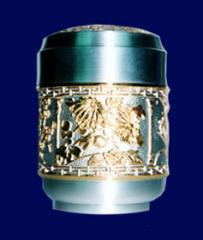 Tea caddy gold platted