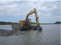 AT120 Amphibious Excavator Model