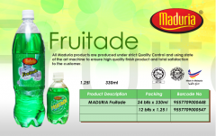 Soft drinks, carbonated Fruitade Flavour