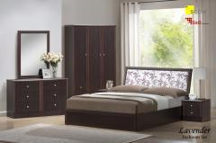 Set of bedroom furniture lavender wenge...