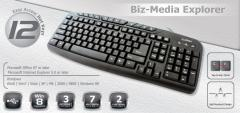 CLiPtec RZK246 USB Multimedia Keyboard