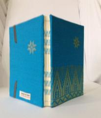 Handmade Blue Songket Notebook