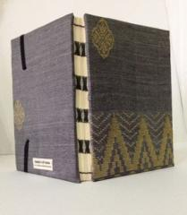 Handmade Purple Songket Notebook