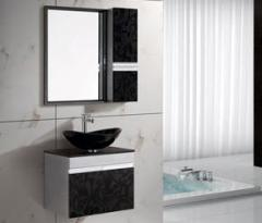 Stainless Steel Cabinet & Glass Basin »