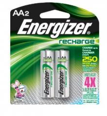 NH15BP2 Energizer Rechargeable Battery AA 2'S