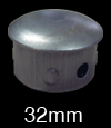 32mm(OD) Round Pipe Metal Cap