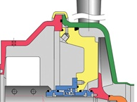Pump with double seal barrier fluid at all connections