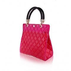 Tote Bag/Women Fashions-Diamond Blu Fushia Bag