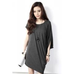 Dress,Ladies Wear-Pansy Asymmetric Cape Sleeve Midi Dress